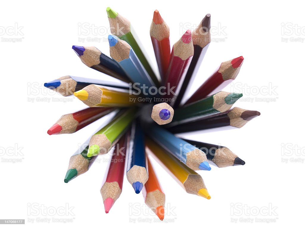 Color pencils royalty-free stock photo