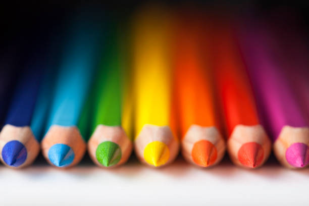 color pencils - coloured pencil stock photos and pictures