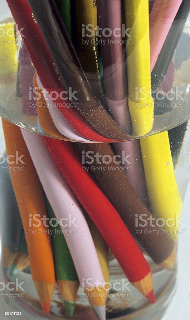 Farbe Stifte. Lizenzfreies stock-foto