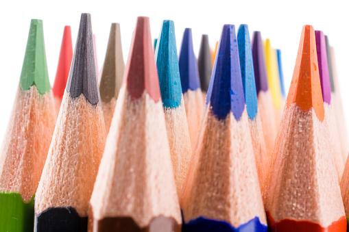 Kleur Potloden Stockfoto en meer beelden van Achtergrond - Thema