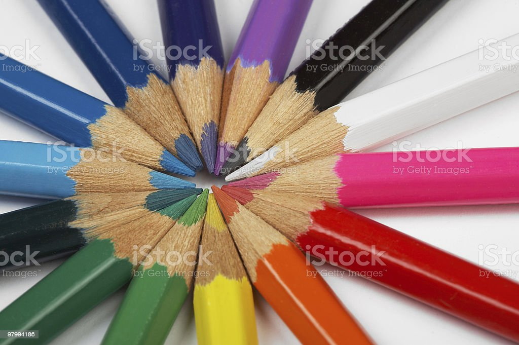 Color pencils royalty free stockfoto