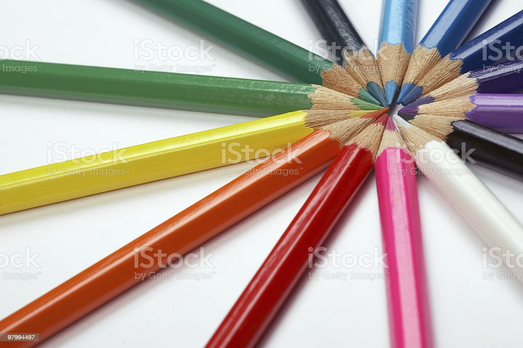 Color pencils royalty free stockfoto