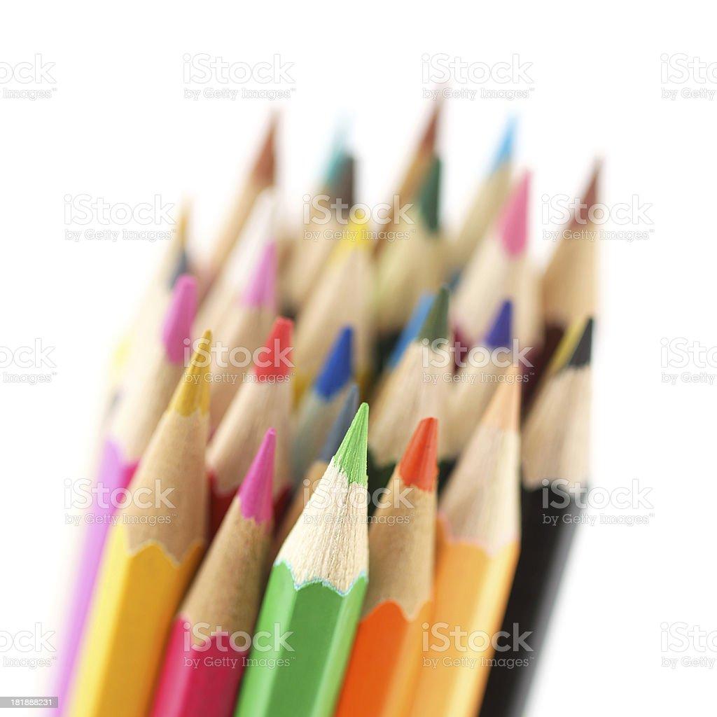 Color Pencils Set royalty-free stock photo