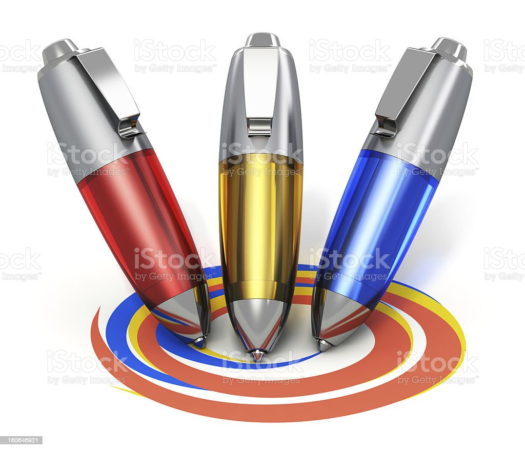 Color pens drawing coloful shapes royalty-free stock photo