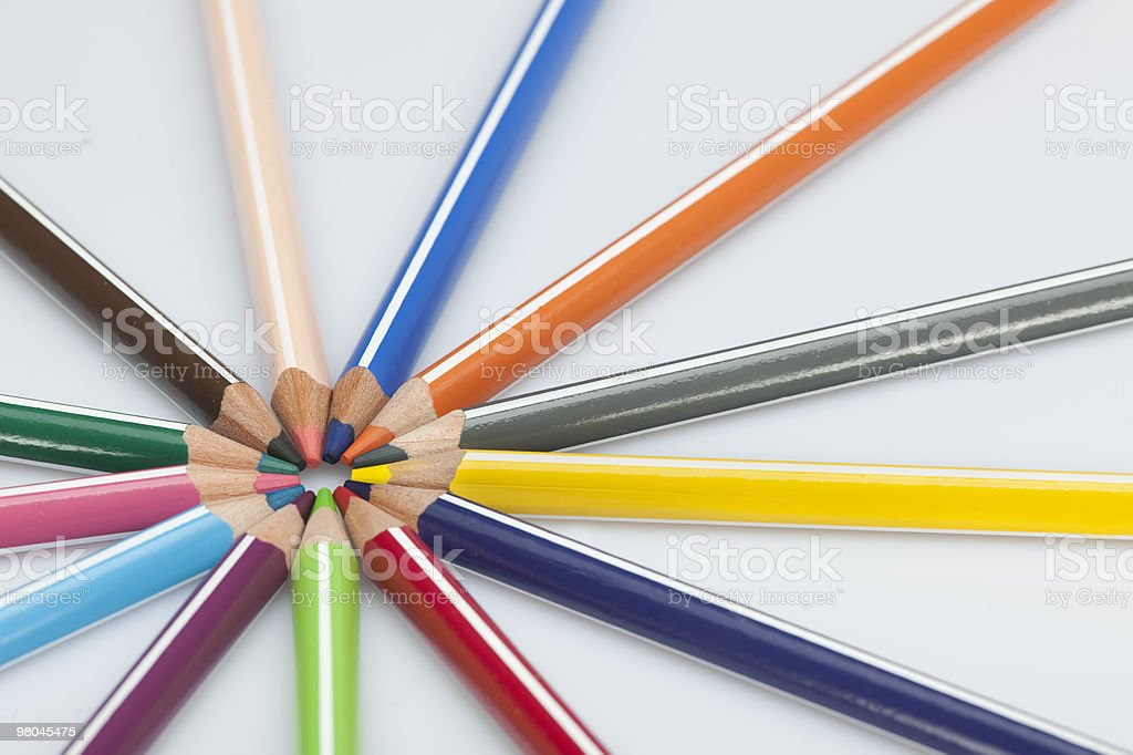 Colore penna foto stock royalty-free