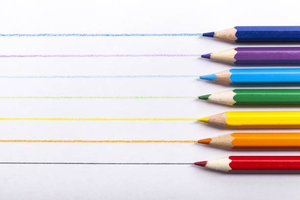 color. - coloured pencil stock photos and pictures