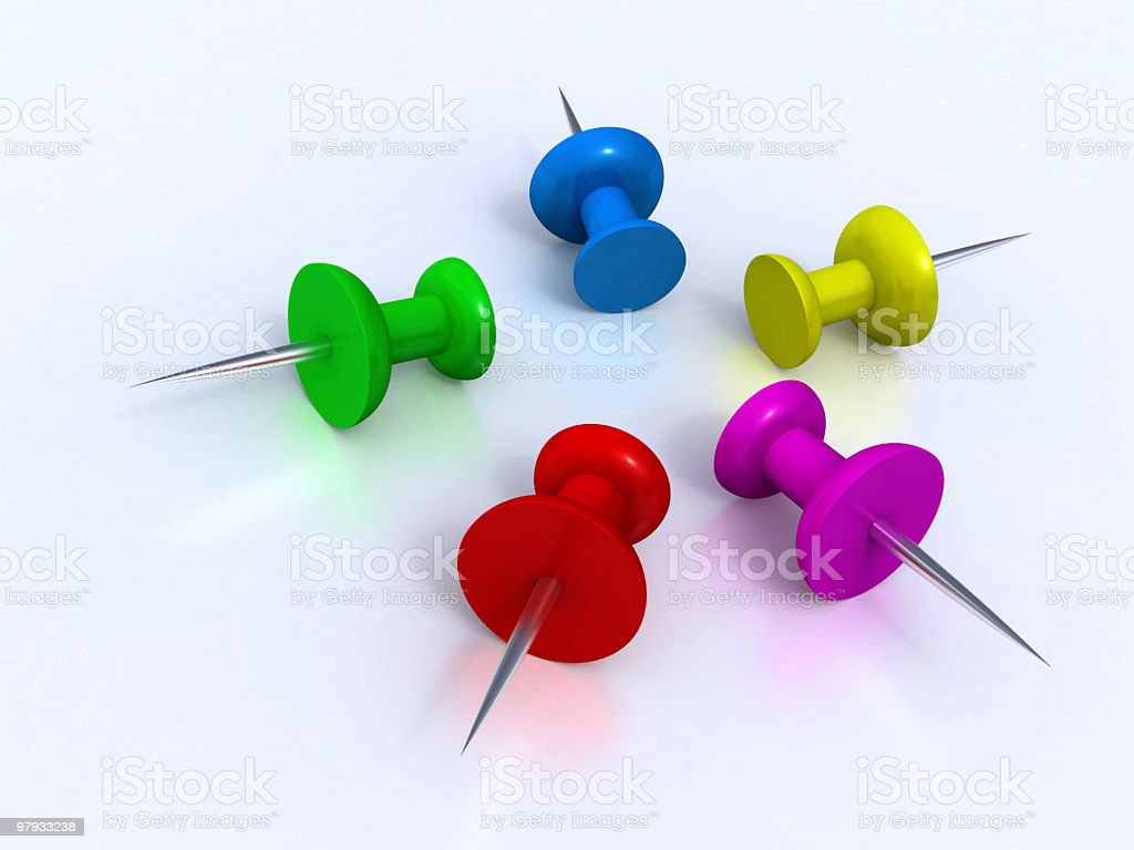 Color pins royalty-free stock photo