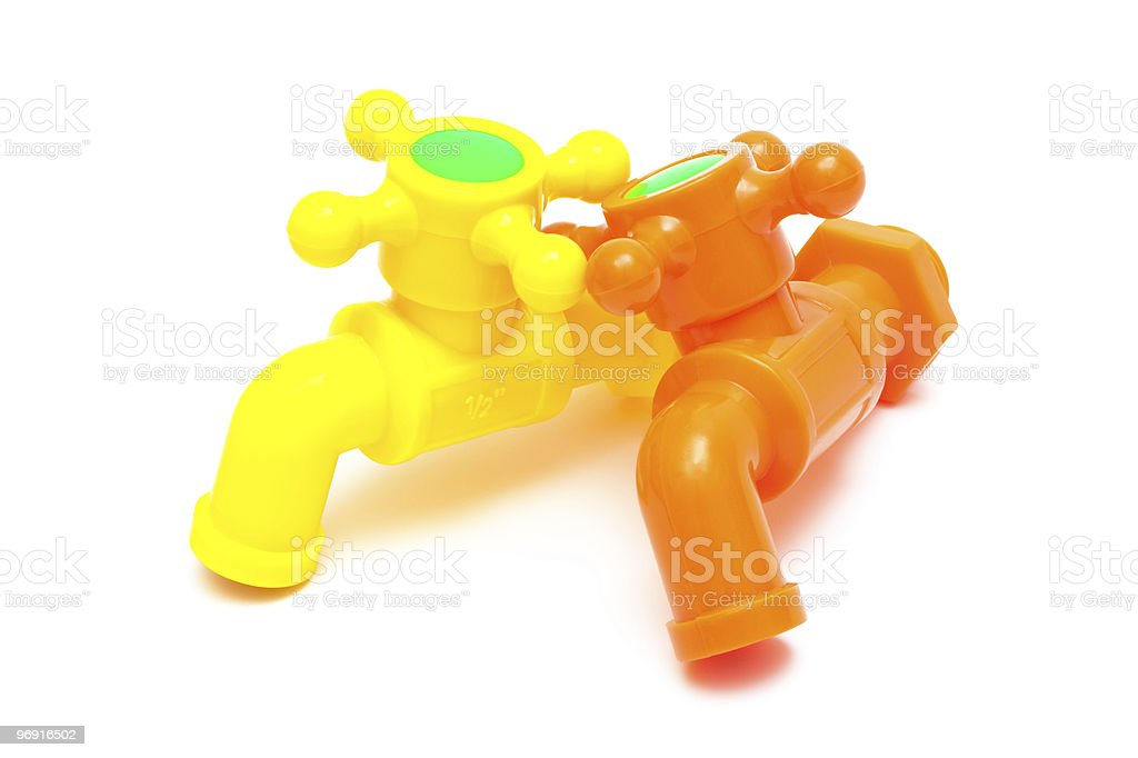 color plastic faucet royalty-free stock photo