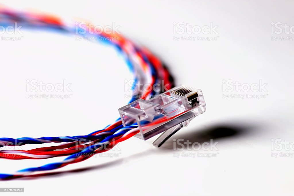 Stupendous Color Plug Wire Lan Stock Photo More Pictures Of Blue Istock Wiring 101 Olytiaxxcnl