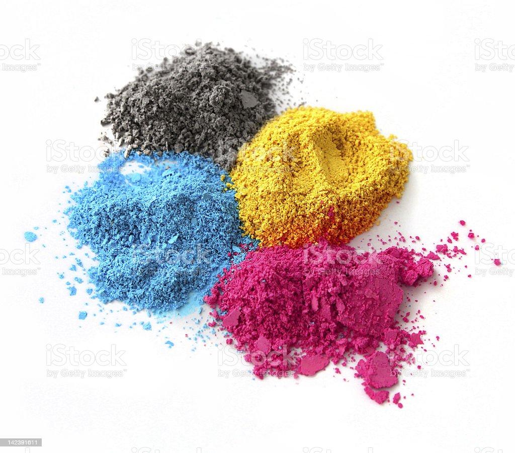 Color powder cmyk royalty-free stock photo