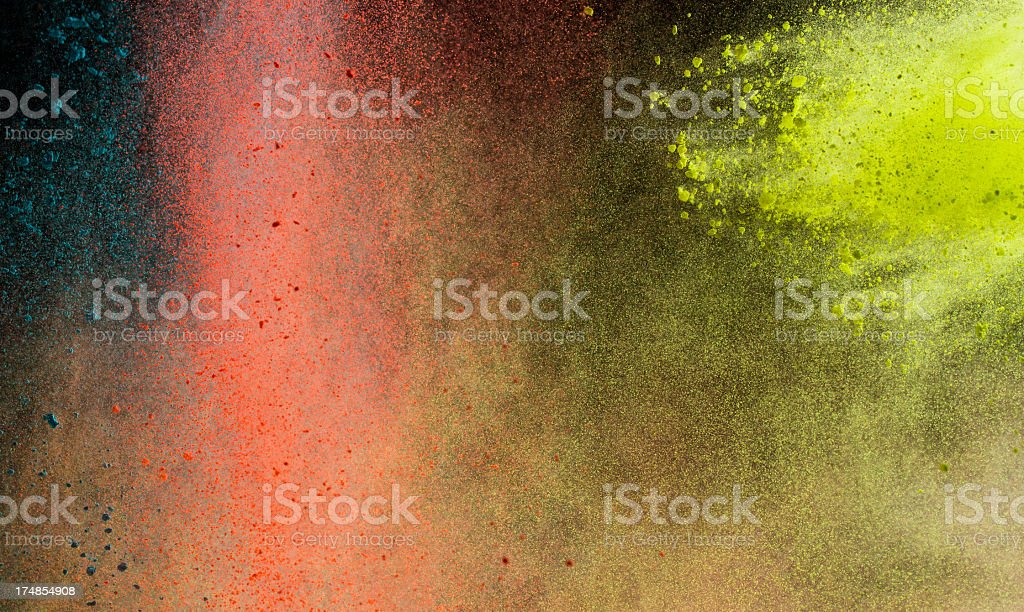 Color Powder for the indian Holi Festival royalty-free stock photo