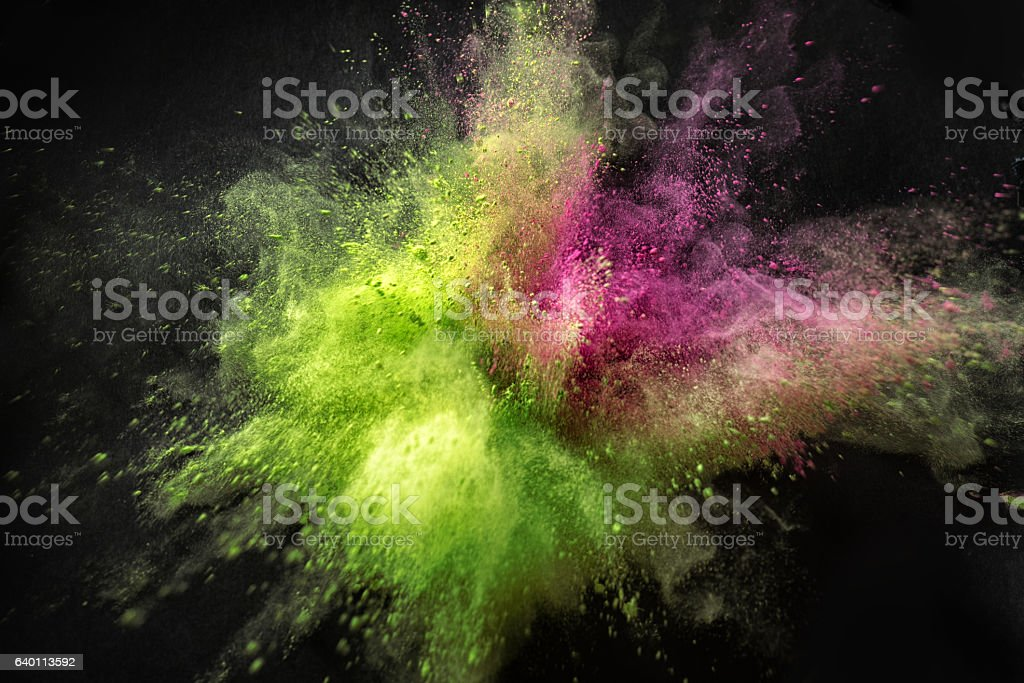 Color Poweder Explosion stock photo