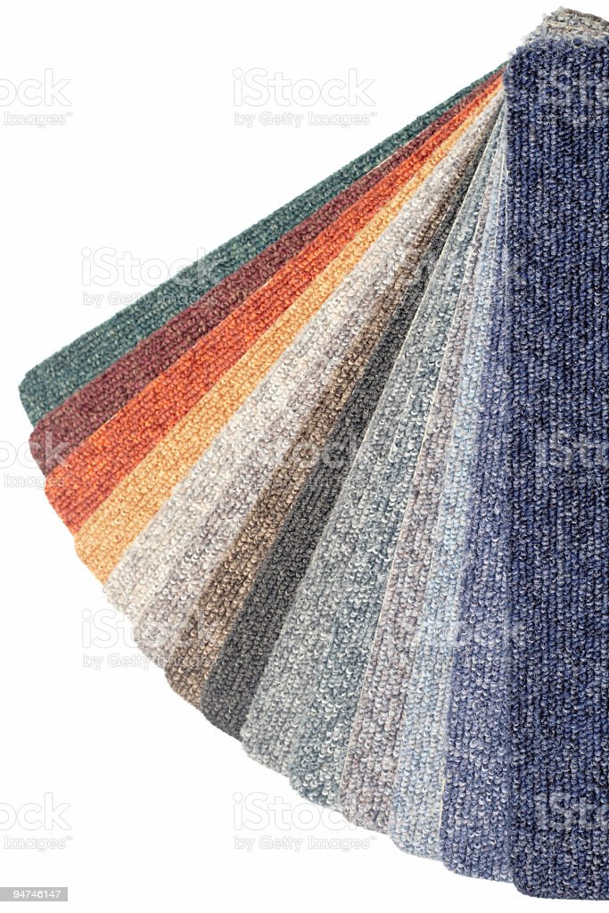 color range of carpet samples royalty-free stock photo