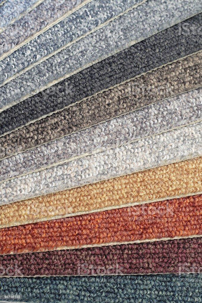 color range of carpet samples royalty-free stock photo