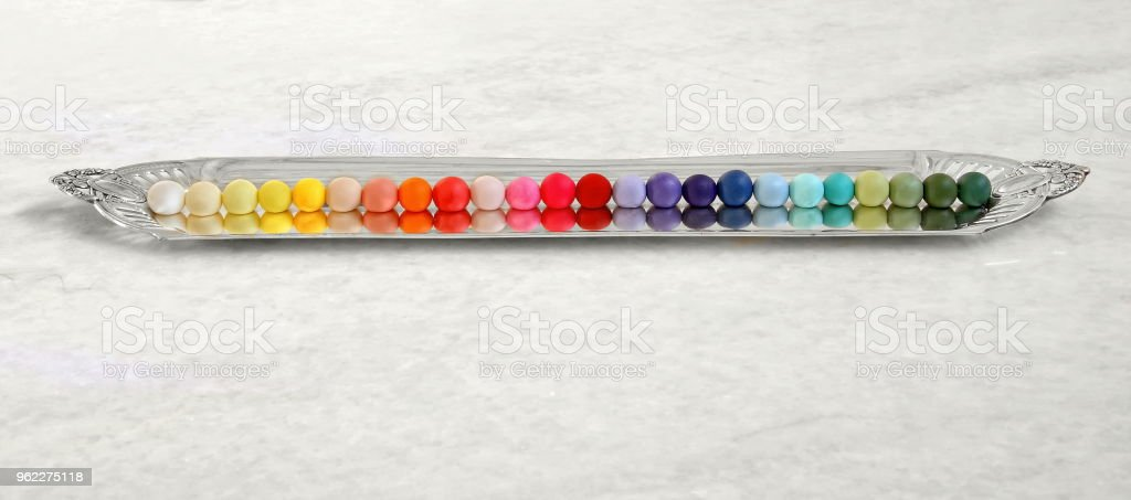 color samples for decorated cakes 1 stock photo
