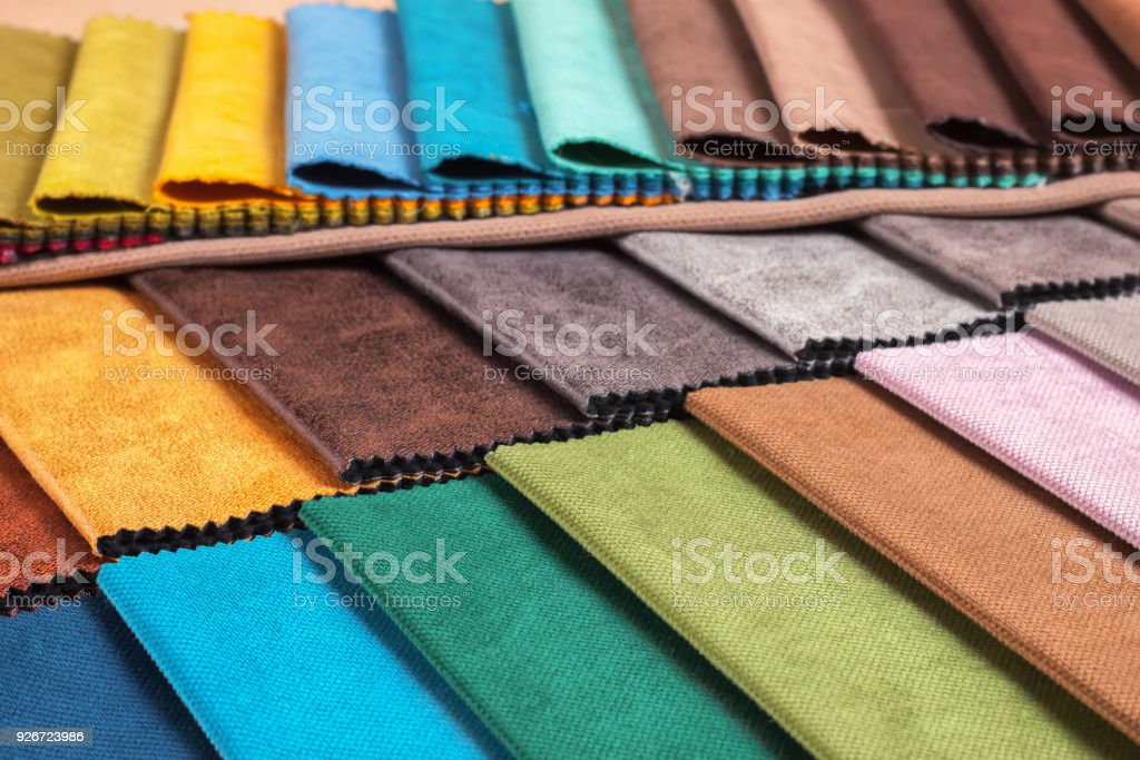 Color samples of a upholstery fabric royalty-free stock photo