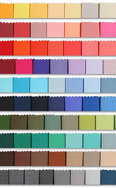 Color samples palette of fabric stock photo