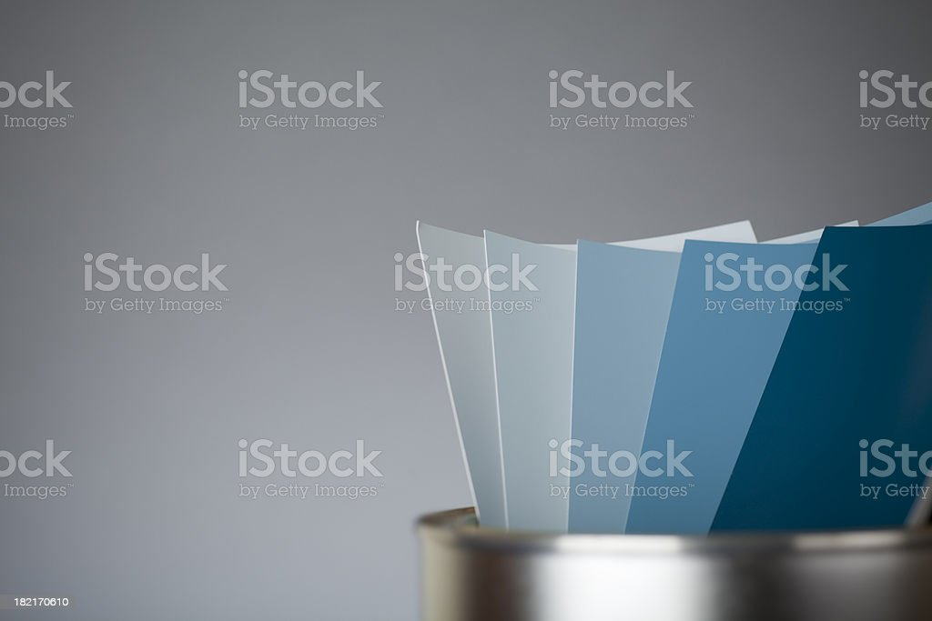 Color scale BLUE royalty-free stock photo