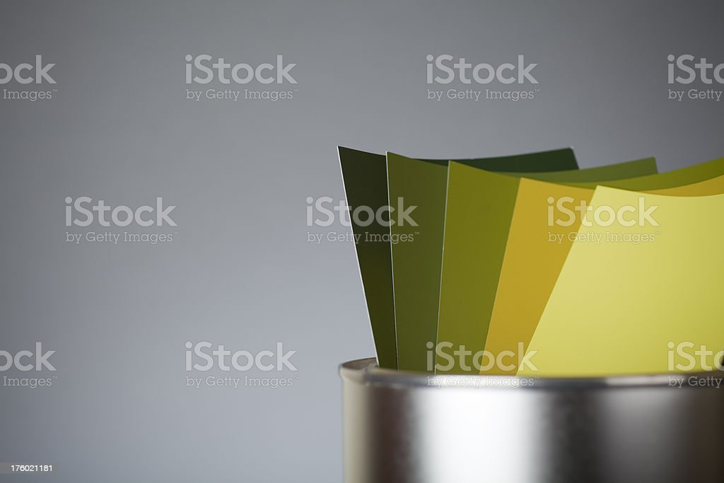Color scale GREEN royalty-free stock photo