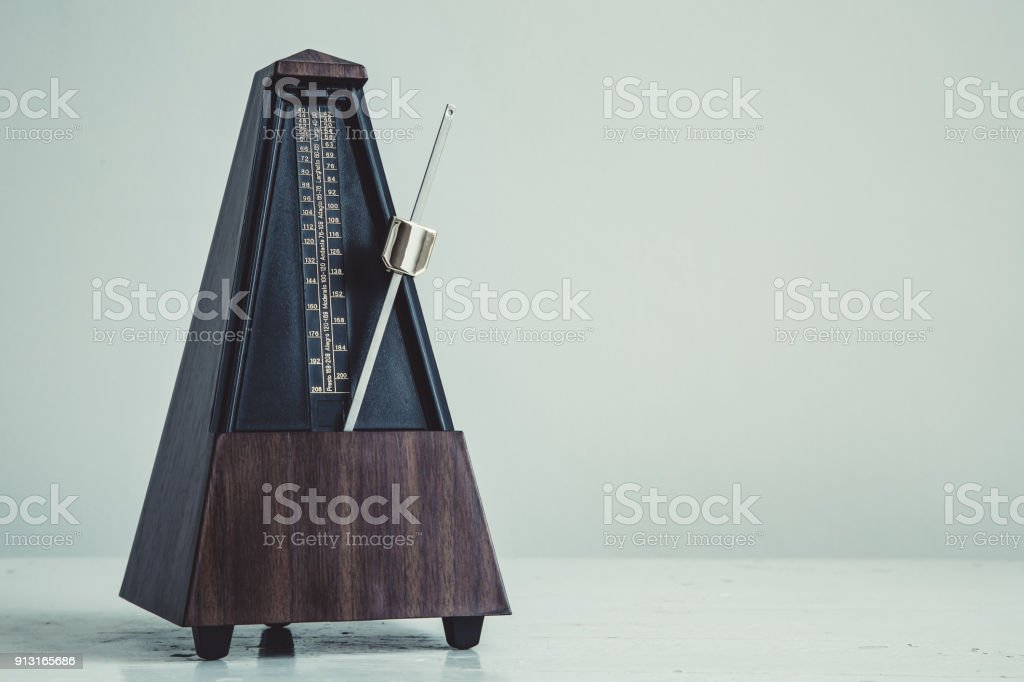 Color shot of a vintage metronome stock photo