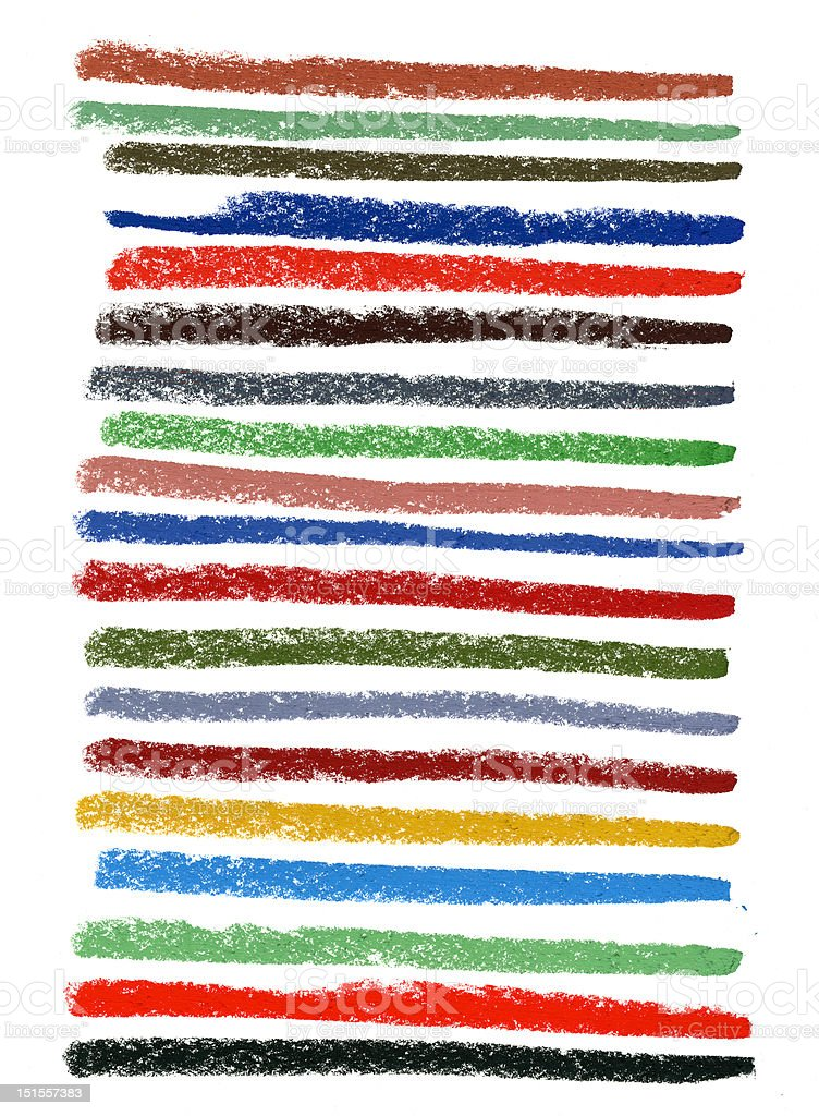 color smudged lines with pastel crayons royalty-free stock photo