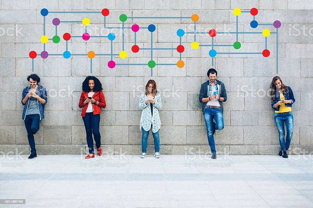 Farbe Soziales Netzwerk - Lizenzfrei 2015 Stock-Foto