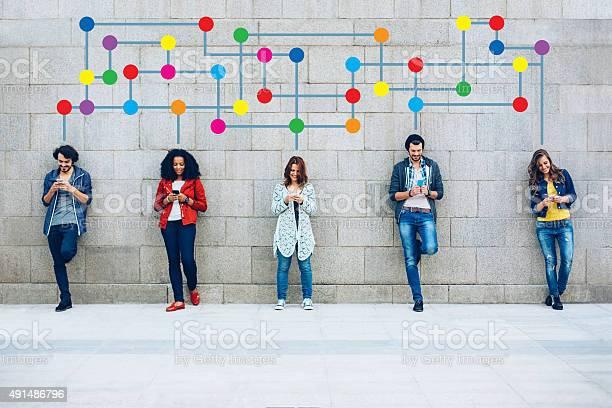Farbe Soziales Netzwerk Stockfoto und mehr Bilder von 2015