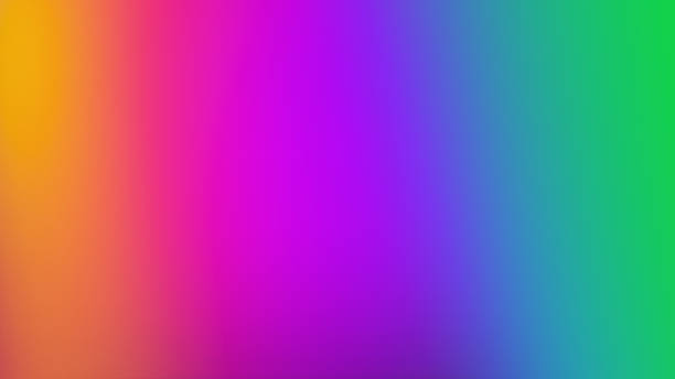 Color Spectrum Abstract Rainbow Gradient Blurred Background stock photo