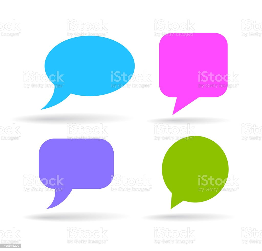 Color speech bubble stock photo