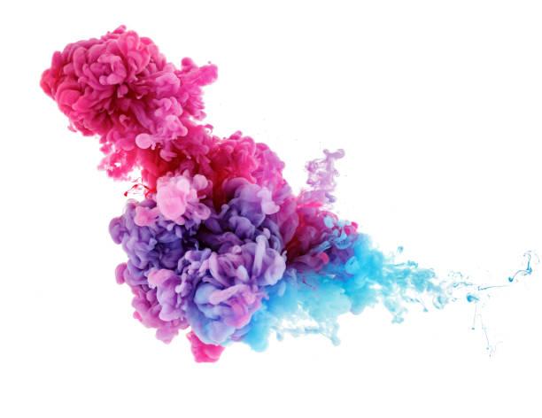 Farbspritzer im Wasser aus Tinte – Foto