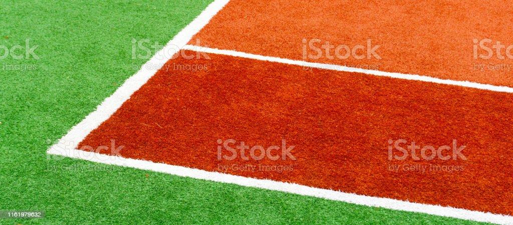 Color sports court tennis coverage. Sport background concept. Copy...