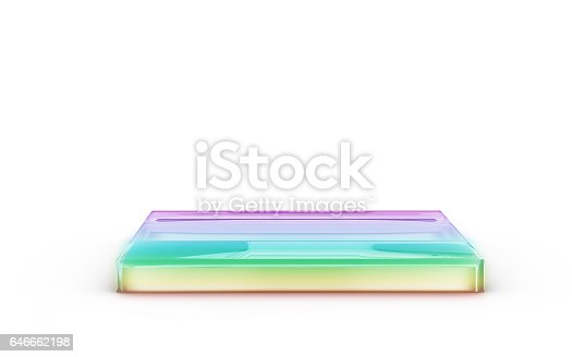 istock color square of glass stand for display 646662198