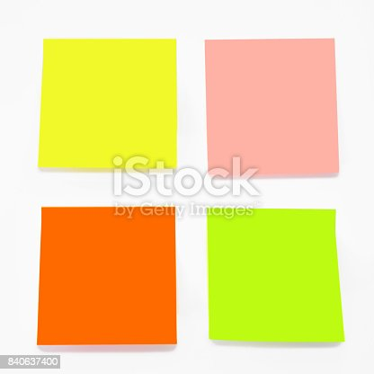 istock Color sticky notes set 840637400