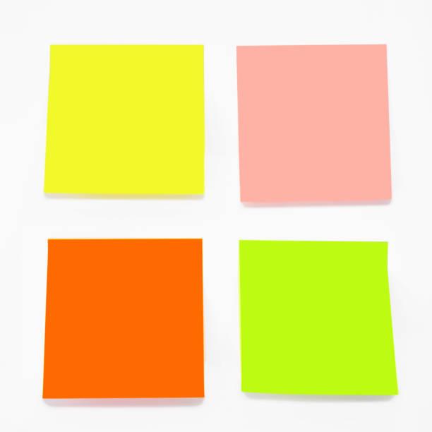 Color sticky notes set stock photo