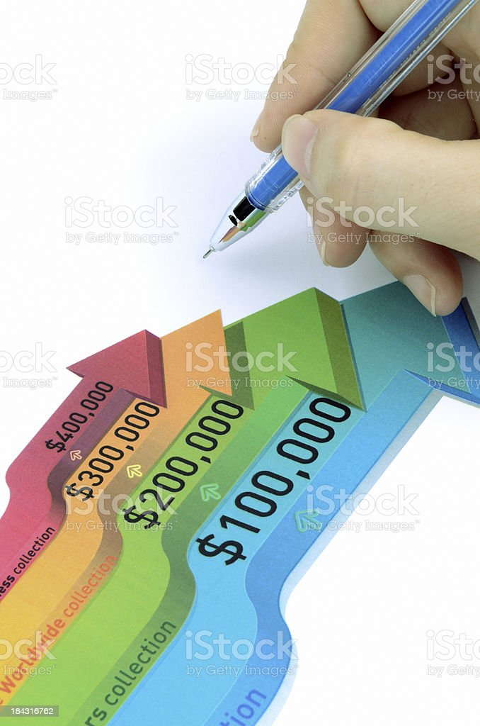 Color stock chart stock photo