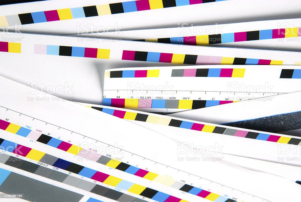 CMYK Color Swatch Bar And Chart For Printing Purposes royalty-free stock photo