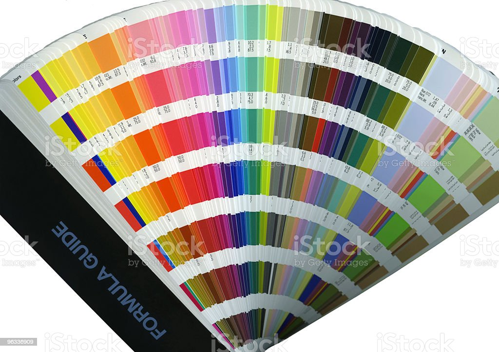 XXL Color Swatch Book stock photo