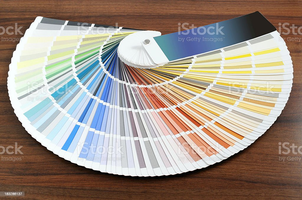 Color Swatch for house paintings stock photo