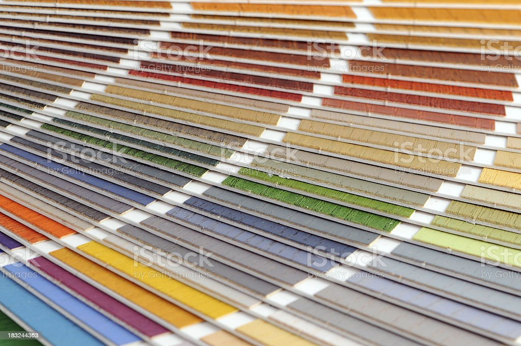Color Swatch for wood paintings stock photo