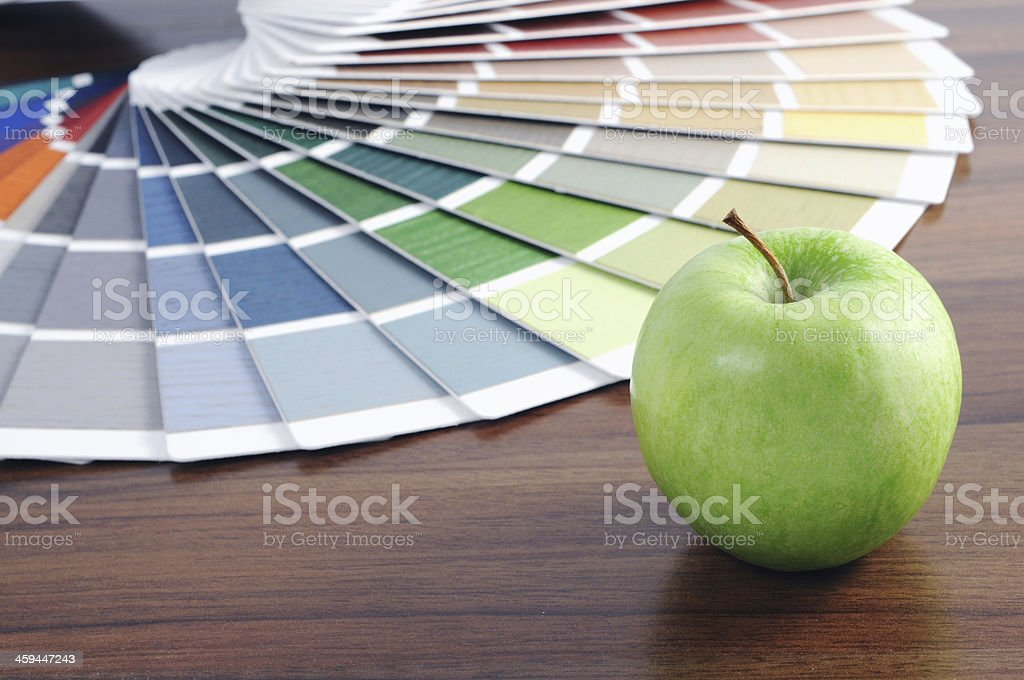Color Swatch with green apple stock photo