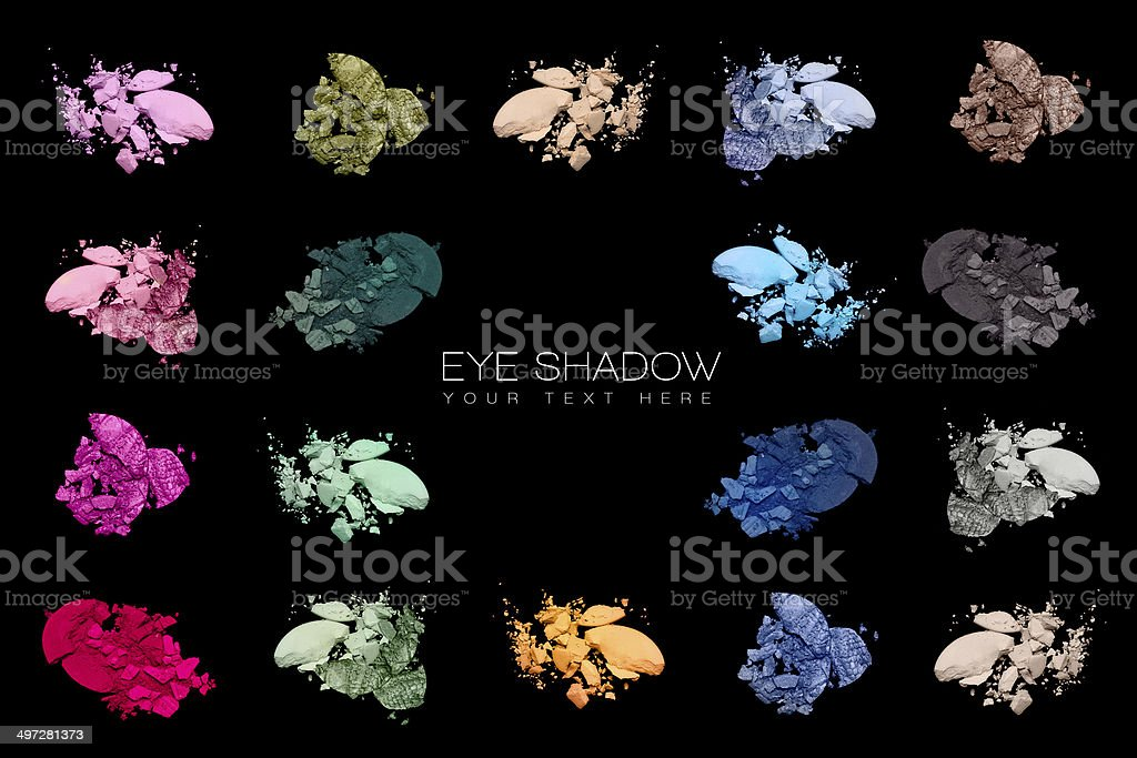 Color Swatches. Set of eye shadow stock photo