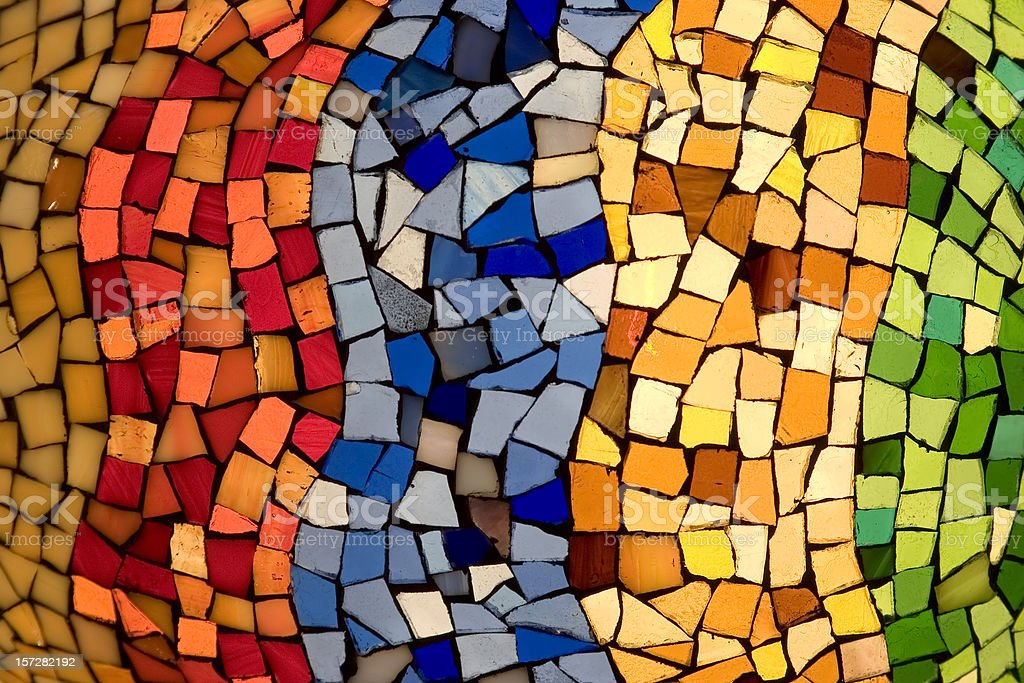 Color tiles mosaic stock photo