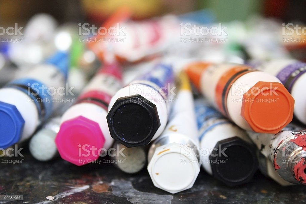 Color tubes stock photo