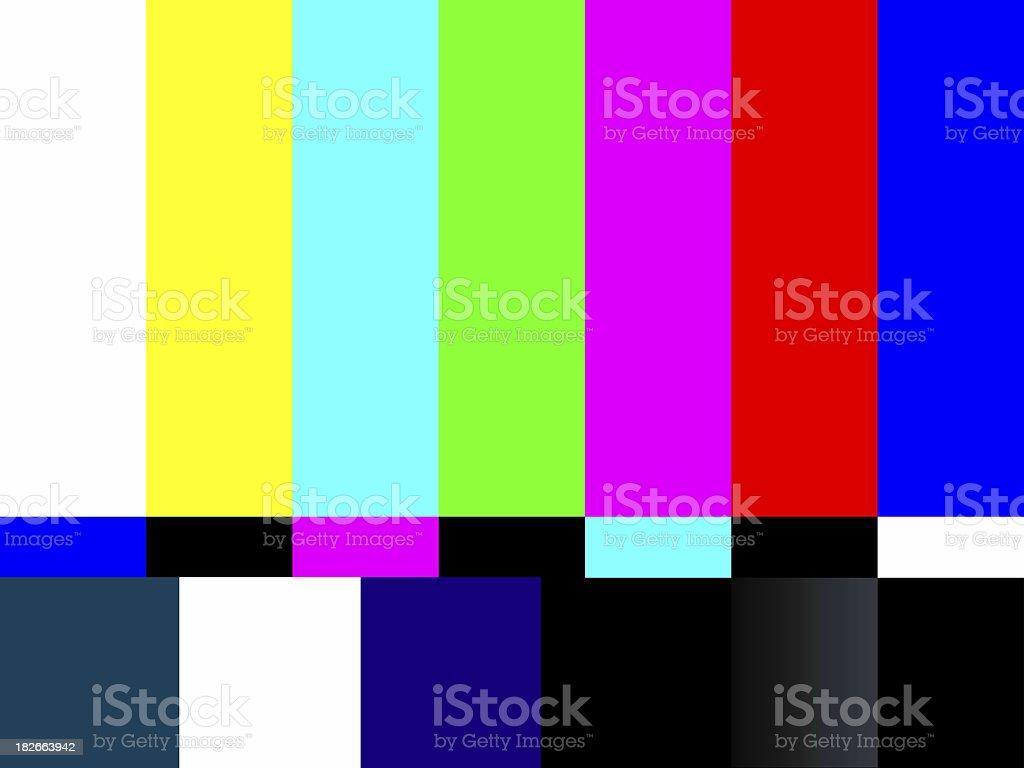 Color TV Bars Non-Signal stock photo