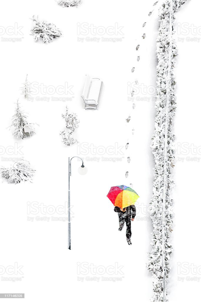 color umbrella royalty-free stock photo