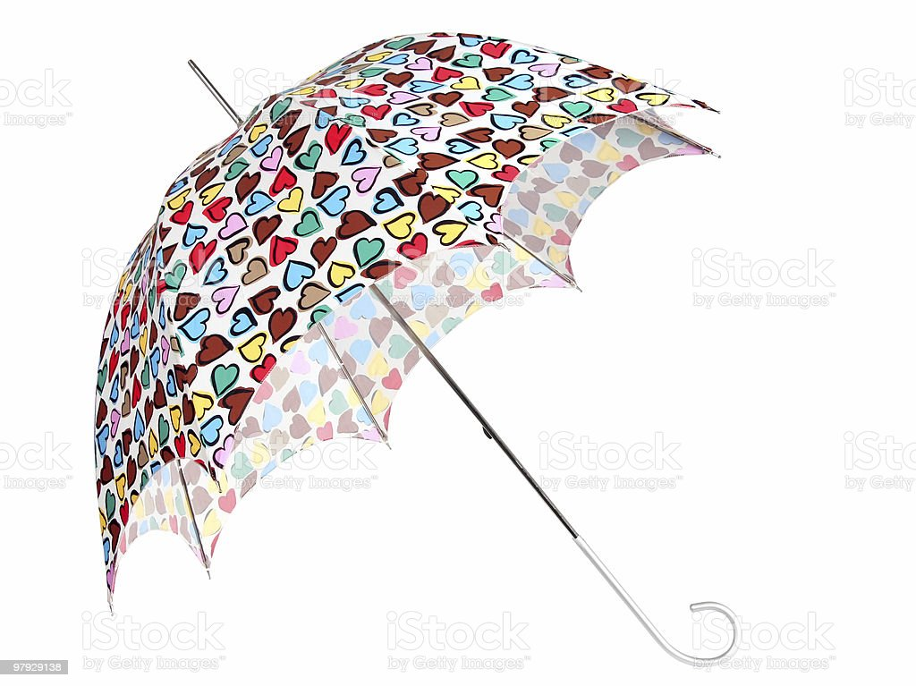 Color umbrella with heart royalty-free stock photo
