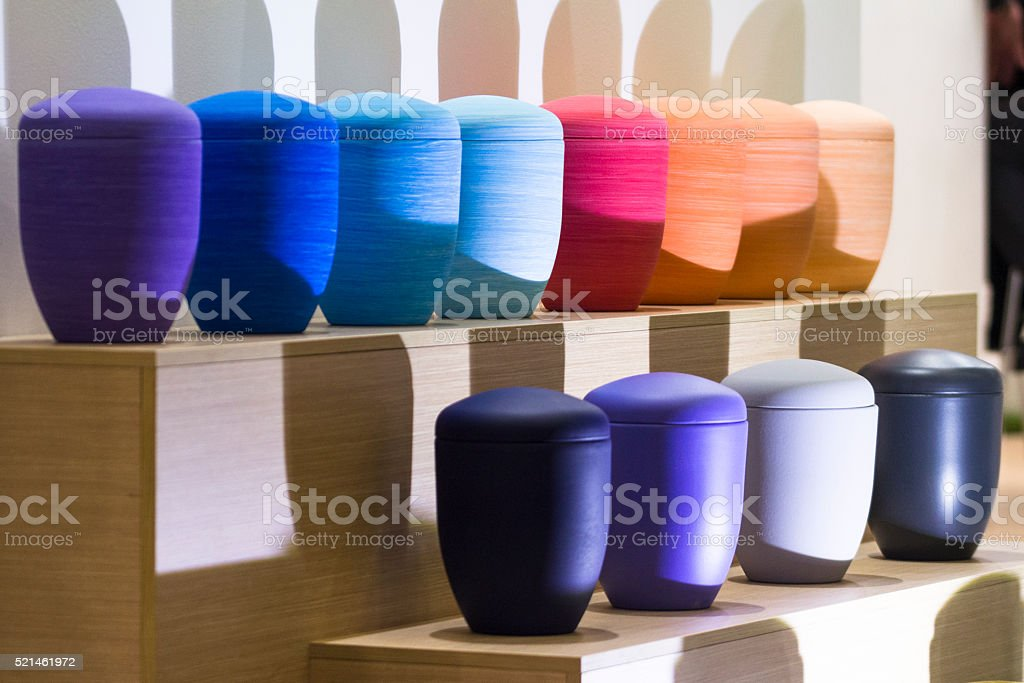 Color Urn stock photo