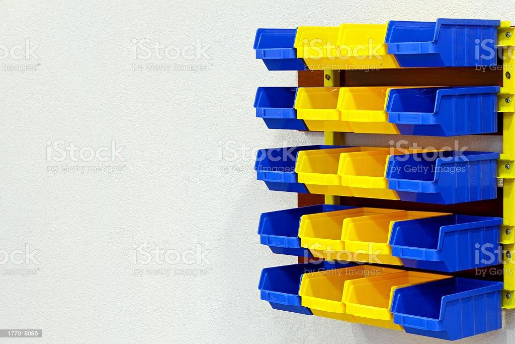 Color wall rack stock photo