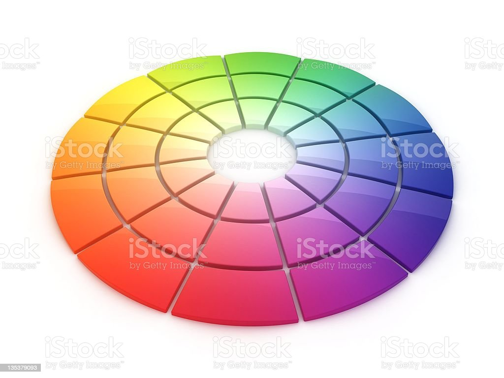 Color Wheel 3D royalty-free stock photo