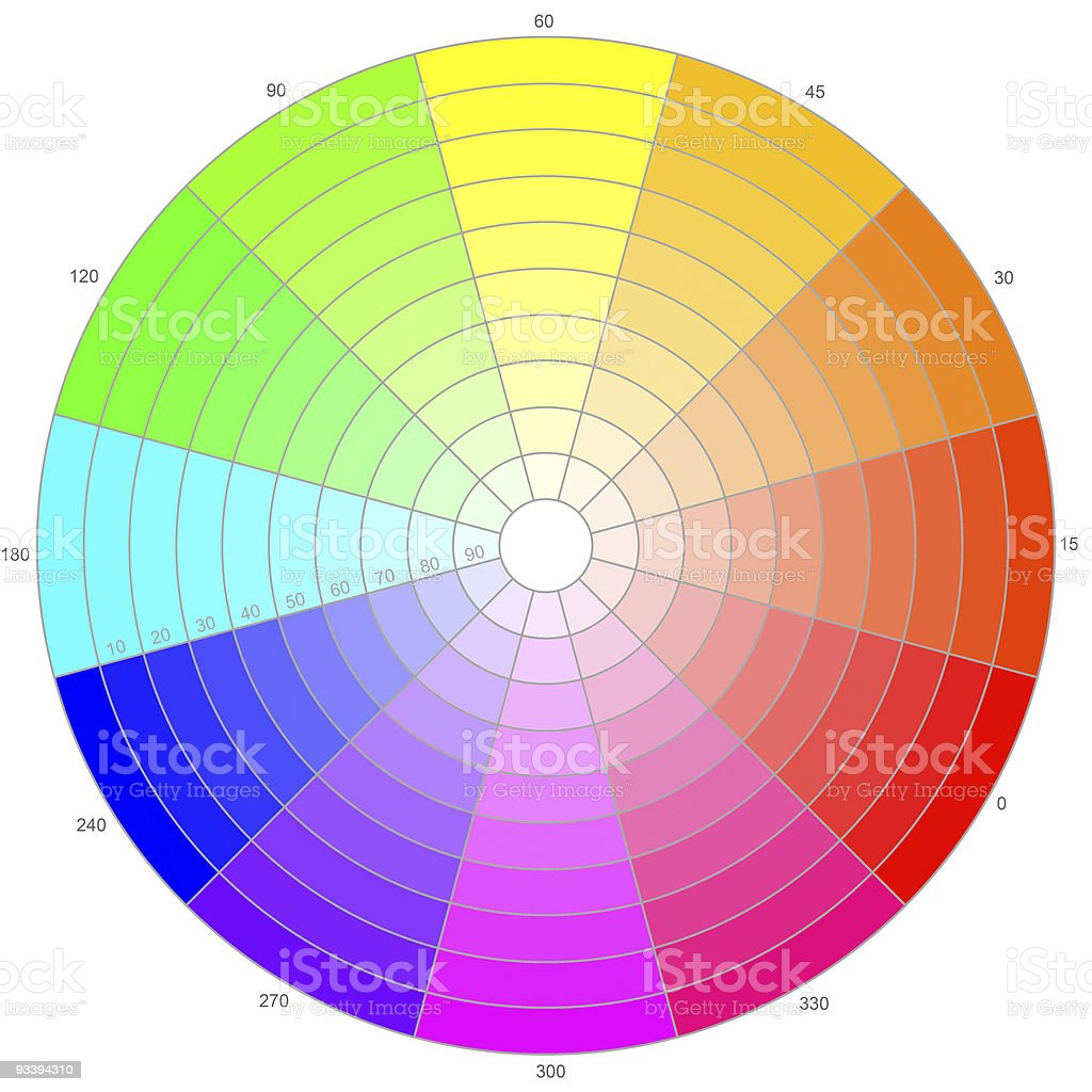 Color wheel on white royalty-free stock photo